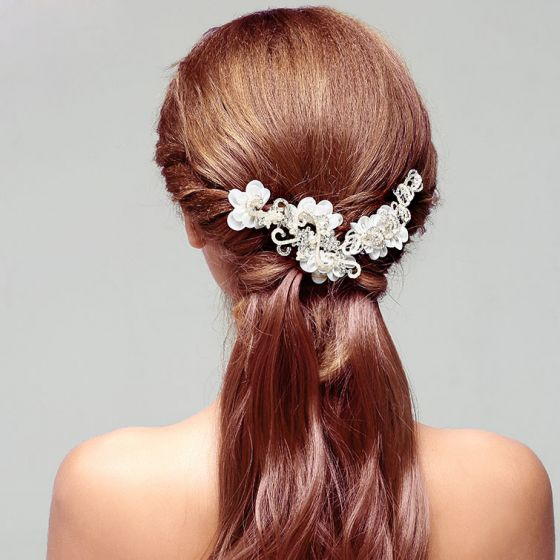 Handgemaakte Strass Bruids Hoofdtooi / Head Bloem / Bruiloft Haar Accessoires / Bruiloft Sieraden