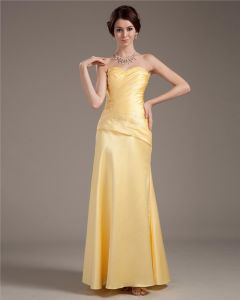 Taffeta Sweetheart Beading Floor Length Prom Dresses