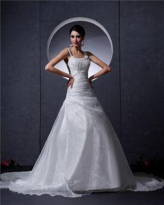 Broderi Scoop Domstol Sjojungfru Brudklänningar Bröllopsklänningar