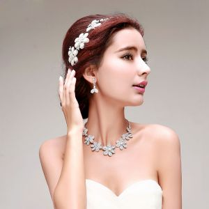 Bridal Headpieces / Earring / Necklace Three-piece