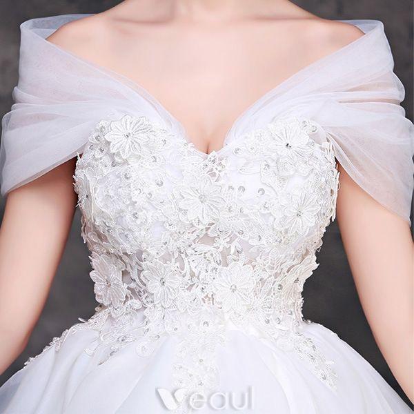 Robe De Mariée En Dentelle De Charme 2016 Courte Robe De Mariage De L'épaule
