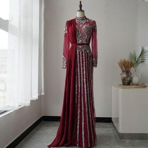 Sukienki wieczorowe burgund