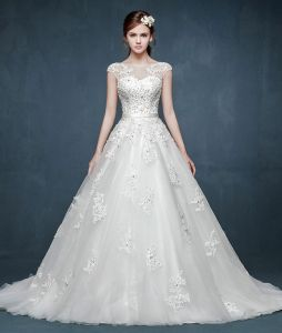 2015 Spring Luxury Double Shoulder Wedding Dress