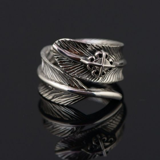 Stunning Silver Feather Handmade  Ring Faith Sterling Silver Rave Club Rings 2019 Accessories