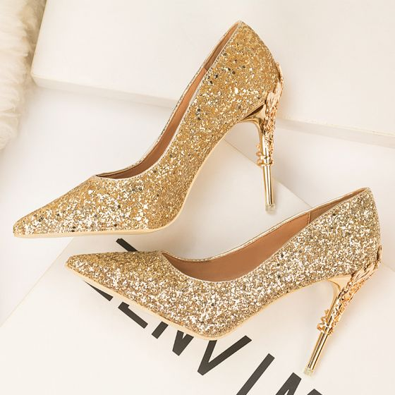 Sparkly Gold Evening Party Sequins