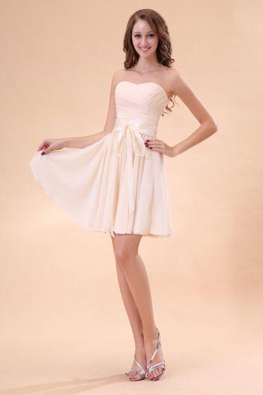 2015 Ideal Sweetheart A-line Short Bridesmaid Dress