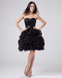 Cherie Ruffle Cuisse Robes De Graduation De Longueur Mousseline De Soie Elegant
