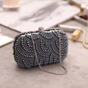 Modern / Fashion Beading Pearl Grey Clutch Bags 2019