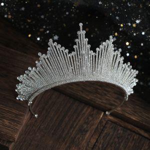 Clásico Plata Rhinestone Tiara Boda Accesorios 2019 Tocados de novia