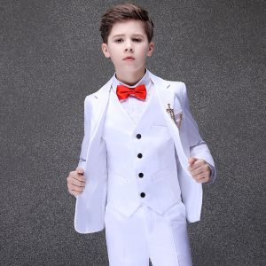 Elegant White Boys Wedding Suits 2020