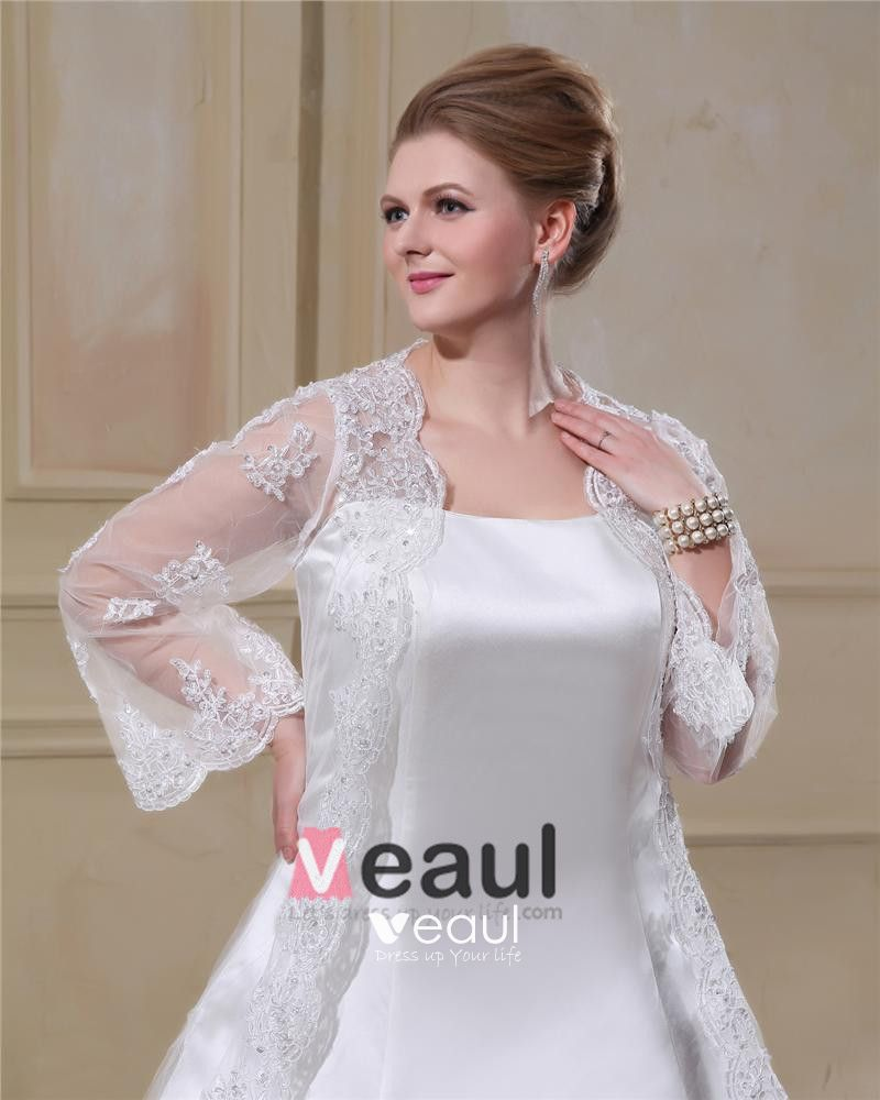 Satin Lace Yarn Square Neck Court Plus Size Bridal Gown Wedding Dress