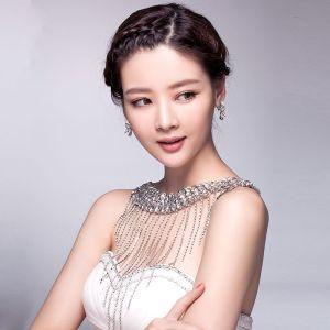 Luksus Rhinestone Kvast Skulder Kæde Til Bryllup Smykker