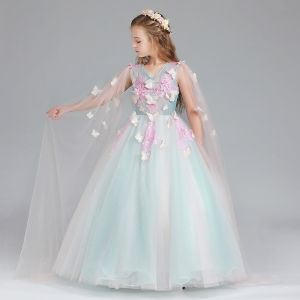 butterfly flower girl dress