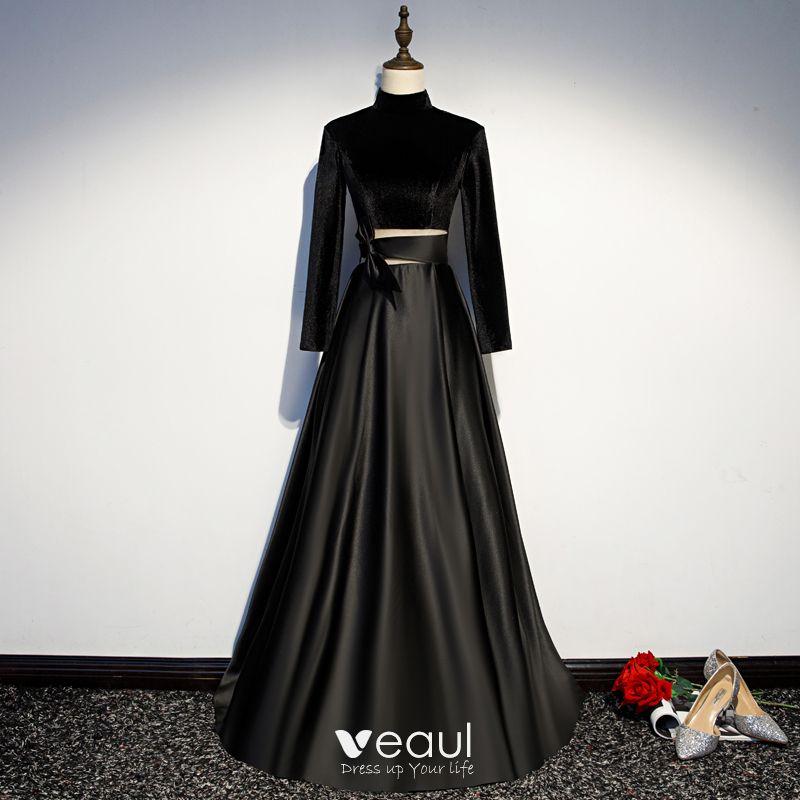 Vintage / Retro Black Evening Dresses 201
