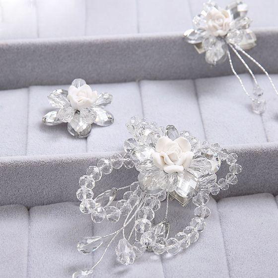 Perle Blomst Brude Headpieces Hår Tilbehør