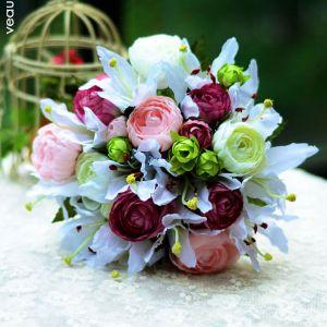 Hand Bouquet Lily Pfingstrosen-brautholding-Brautstrauß