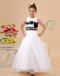 Satin Tulle Lace Handmade Flower Girl Dresses
