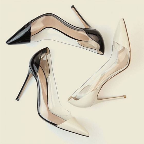 Chic / Beautiful Black Office OL Pumps 2020 10 cm Stiletto Heels Patent Leather Pointed Toe Pumps