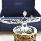 Bridal Jewelry 2017 Classic Silver Rhinestone Metal Tiara