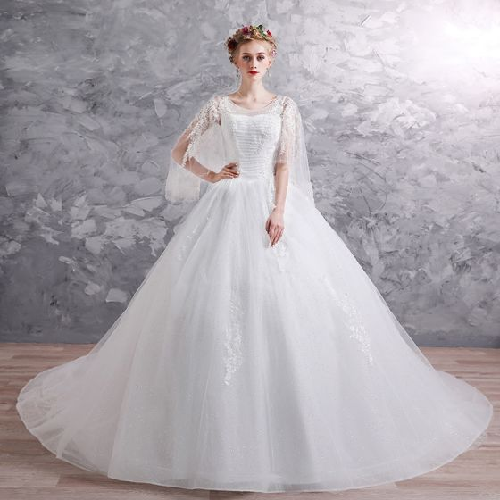 f6f70126b94a chic-beautiful-white-wedding-dresses-2019-ball-gown -scoop-neck-3-4-sleeve-backless-appliques-lace-beading-glitter -tulle-chapel-train-ruffle-560x560.jpg