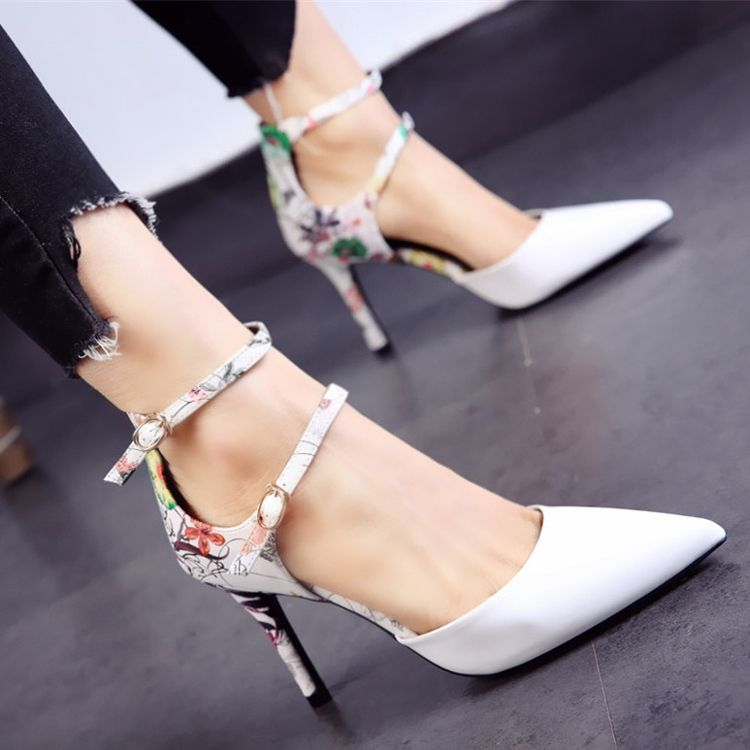 Chic / Beautiful 2017 8 cm / 3 inch Black Green White Beach Cocktail Party Evening Party PU Summer High Heels Stiletto Heels Elegant Pumps
