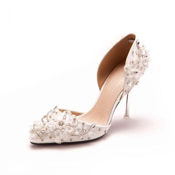 Simple Lace Flower Rhinestone Bridal Shoes / Wedding Shoes / Woman Shoes