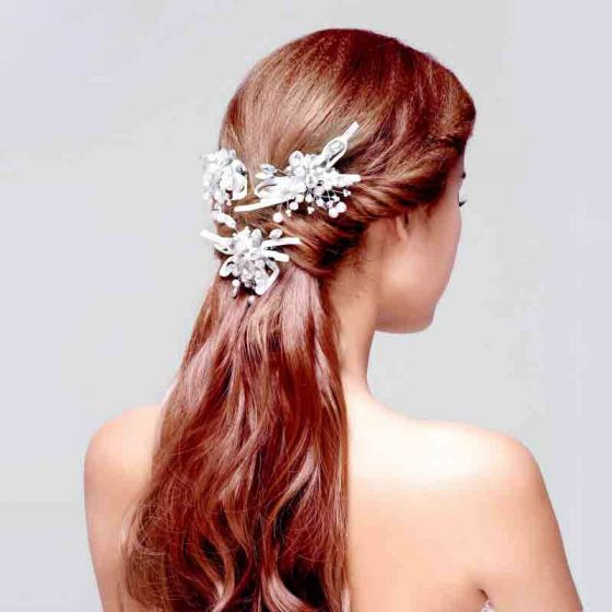 Broadside Pearl Fashion Temperament Bridal Headdress Headpiece Wedding Hair Accessories Wedding Jewelry