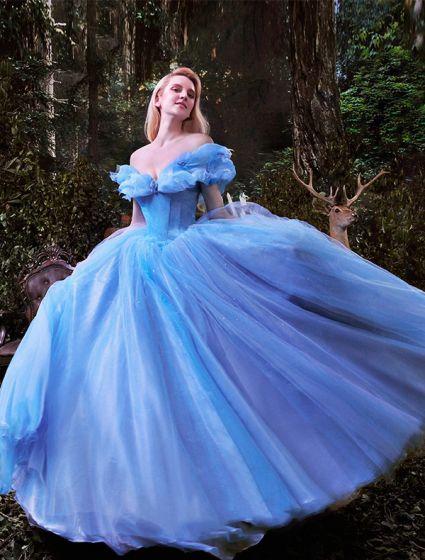 Luksus Høyverdig 2015 Cinderella Kjole Film Kostyme Ballkjoler