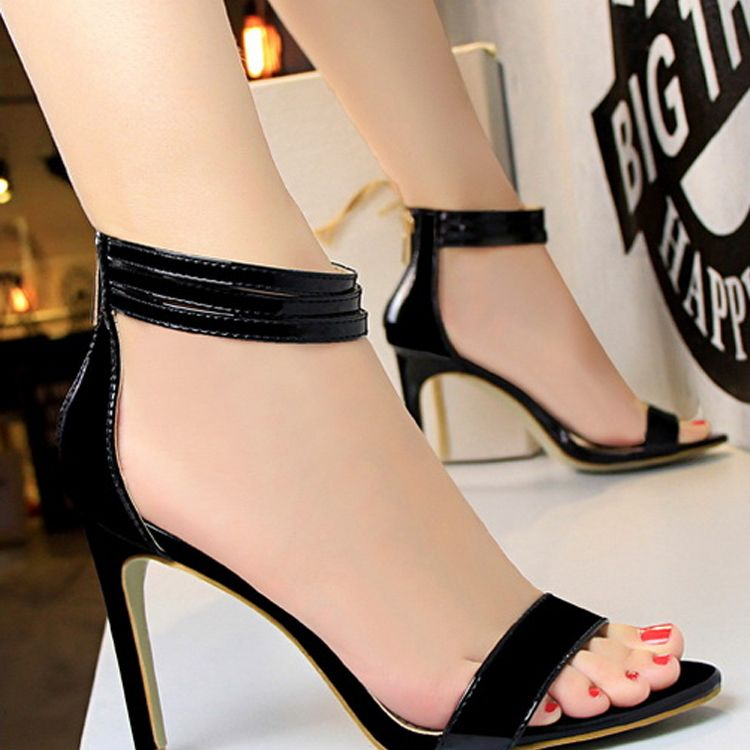 Elegant 2017 8 cm / 3 inch Black Gold Silver Casual PU Summer High Heels Stiletto Heels Pumps