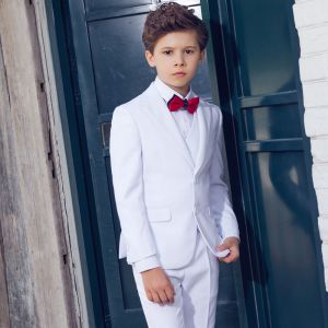 Modest / Simple White Boys Wedding Suits 2019