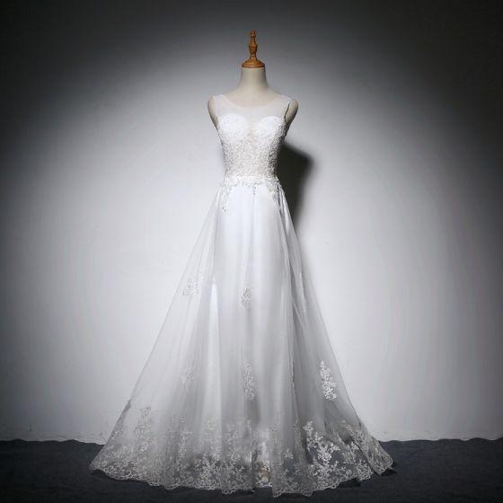 Vestidos blancos largos transparentes