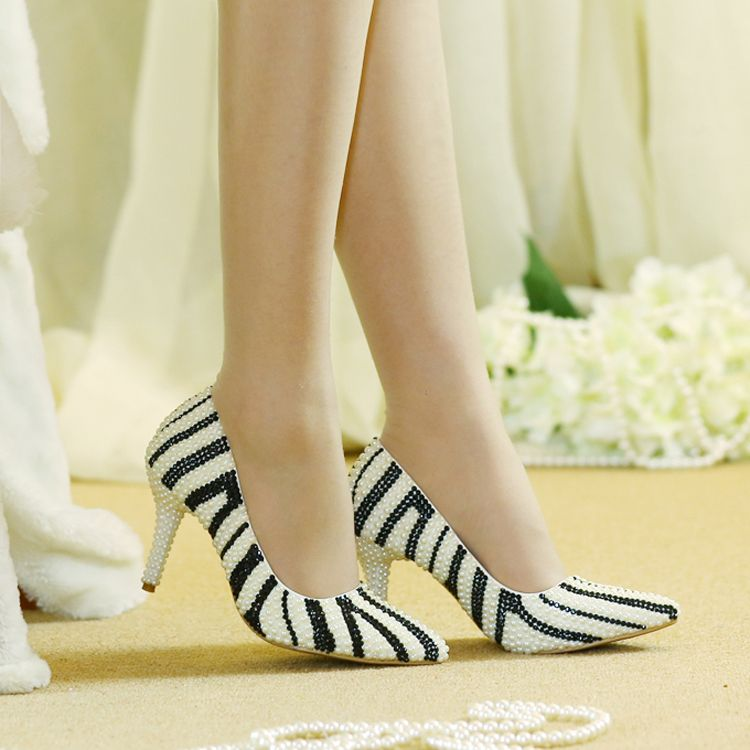 Amazing / Unique 2017 8 cm / 3 inch Black Purple Casual Cocktail Party Evening Party Outdoor / Garden PU Pearl High Heels Stiletto Heels Pumps