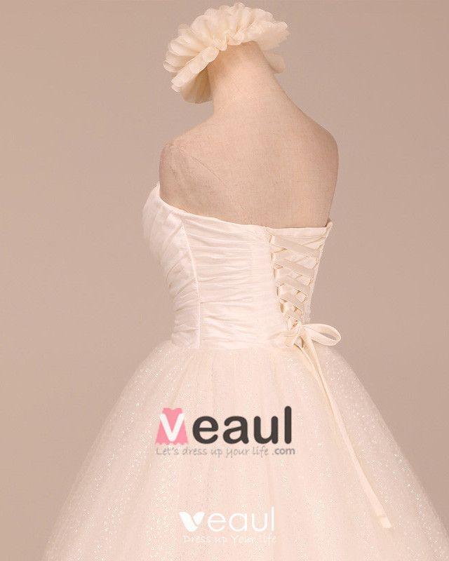 Glaring Ruffles Beading Sweetheart Satin A Line Wedding Dress